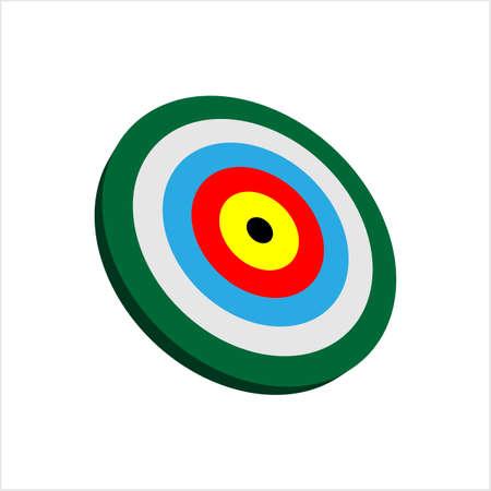 Target Icon, Target Board Vector Art Illustration Stock Illustratie