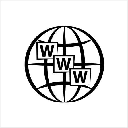 Web Icon, Www Icon Vector Art Illustration Illustration