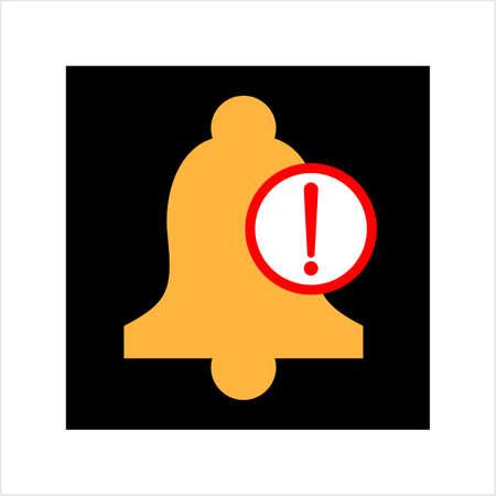 Alert Icon, Notification Icon Vector Art Illustration Stock Illustratie