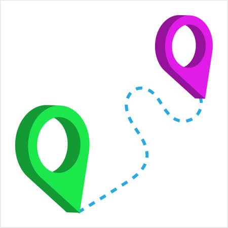 Location Pin Icon Vector Art Illustration