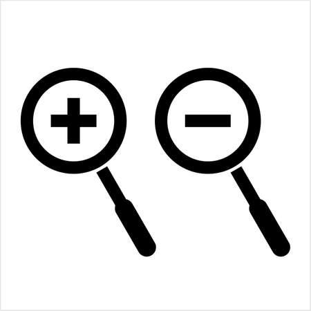 Magnifier Icon, Magnify Glass, Lens Icon Vector Art Illustration Ilustração