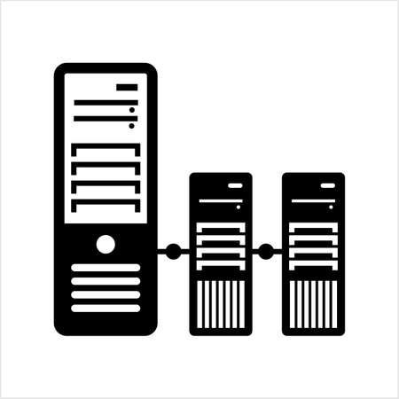 Server Icon, Computer Server Icon Vector Art Illustration