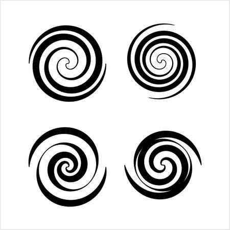 Collection en spirale, Archimedean, Fermat Spirale Vector Art Illustration