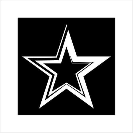 Star Shape Icon Design Vector Art Illustration Stockfoto - 127713674