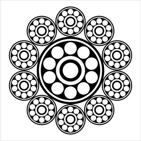 Bearing Icon, Ball Bearing Icon Vector Art Illustration Stock Illustratie