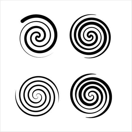 Spiral Collection, Archimedean, Fermat Spiral Vector Art Illustration Stockfoto - 127713679
