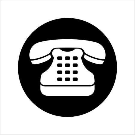Telephone Icon, Phone Vector Art Illustration