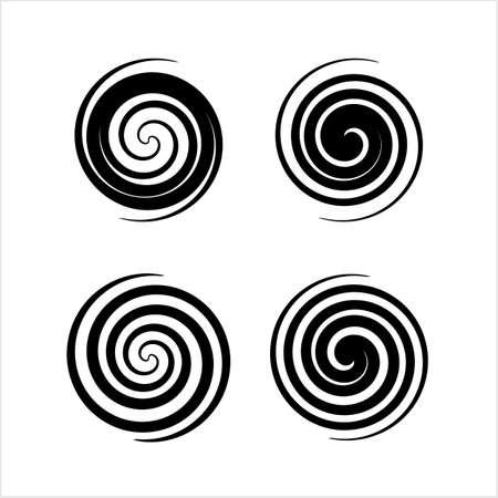 Spiral Collection, Archimedean, Fermat Spiral Vector Art Illustration