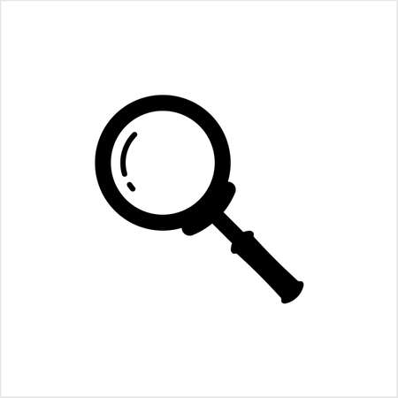 Magnifier Icon, Magnify Glass, Lens Icon Vector Art Illustration Stock Illustratie