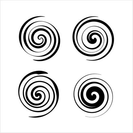 Spiral Collection, Archimedean, Fermat Spiral Vector Art Illustration Stockfoto - 127713692