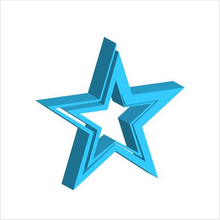 Star Shape Icon Design Vector Art Illustration