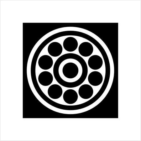 Bearing Icon, Ball Bearing Icon Vector Art Illustration Illustration