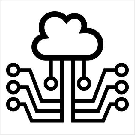 Cloud Network, Cloud Computing Concept, Vector Art Illustration