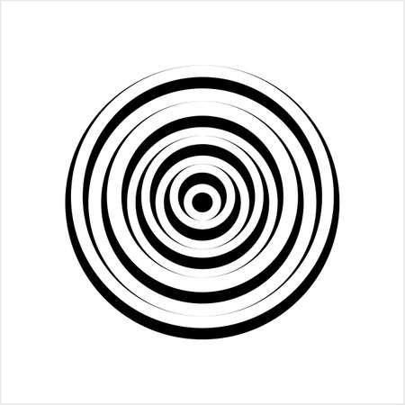 Concentric Circle Abstract Shape Vector Art Illustration Illusztráció
