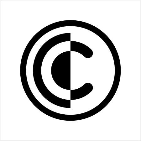 Copyright Icon, Copyright Letter C Symbol Vector Art Illustration Illusztráció