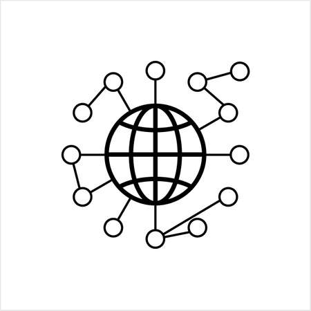 Global Network Icon Vector Art Illustration
