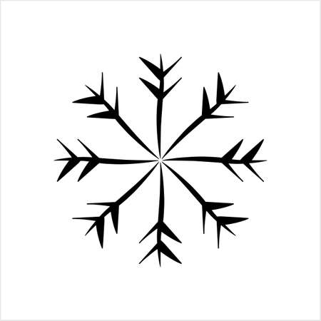 Snowflake Icon, Snow Vector Art Illustration