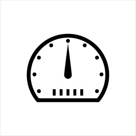 Speedometer Icon Design Vector Art Illustration