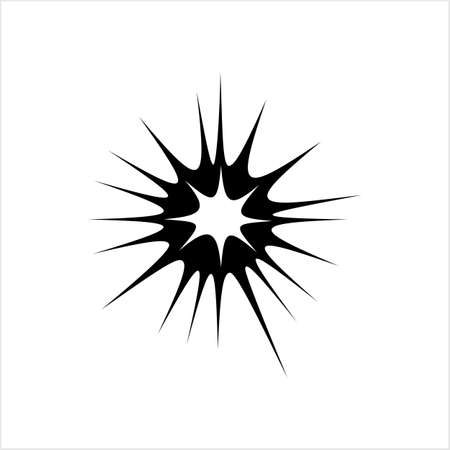 Explosion Icon, Explosion Vector Art Illustration