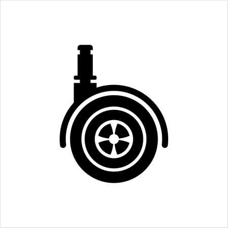 Caster Wheel Icon Vector Art Illustration