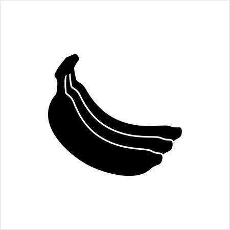 Banana Icon, Banana Fruit Vector Art Illustration Illusztráció