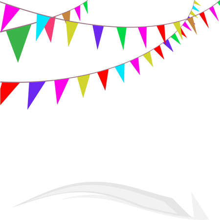 Bunting Flags, Celebration, Party Decoration Item Vector Art Illustration
