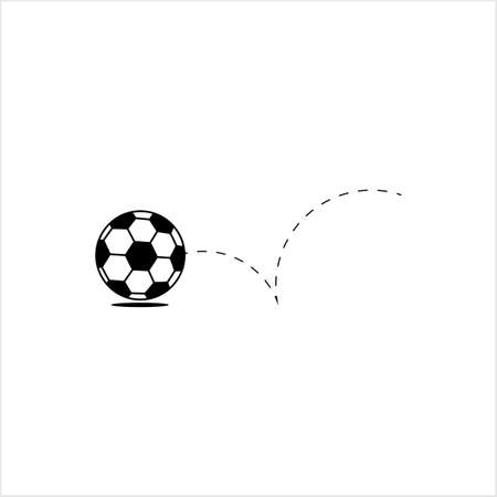 Football Icon, Soccer Ball Design Vector Art Illustration