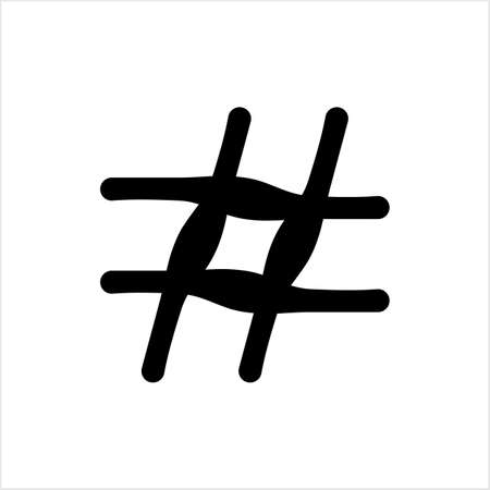 Hash Tag Icon, Hashtag Icon Vector Art Illustration Illusztráció