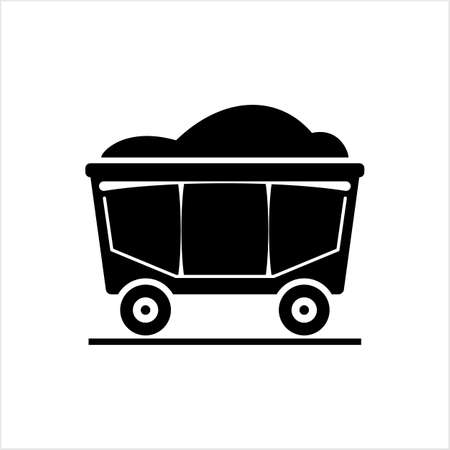 Miner Cart Icon Vector Art Illustration Illusztráció