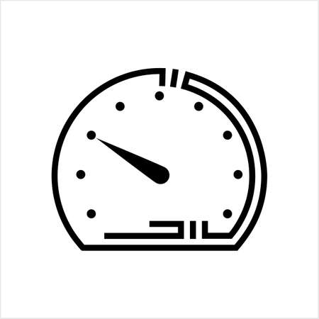Speedometer Icon Design Vector Art Illustration