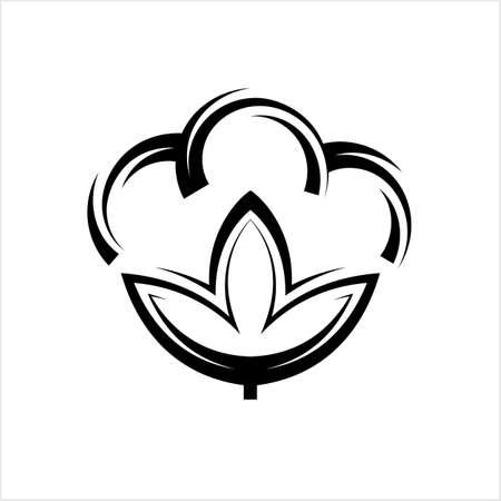Cotton Flower Icon, Cotton Ball, Cotton Fiber Vector Art Illustration Illustration