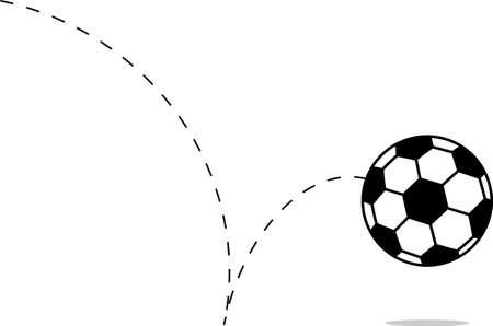 Football Icon, Soccer Ball Design Vector Art Illustration