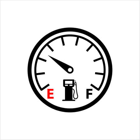 Fuel Gauge Icon Vector Art Illustration