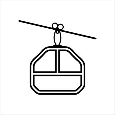 Cable Car Icon Vector Art Illustration