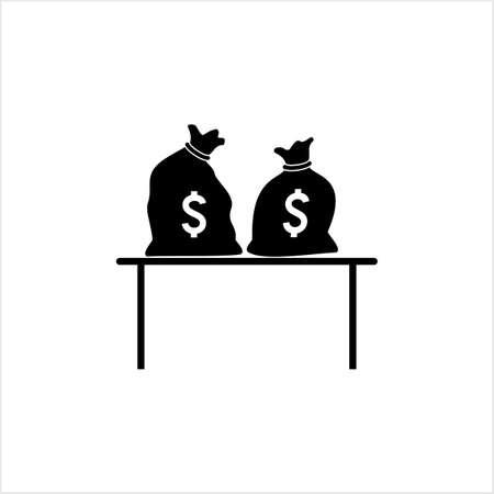 Money Bag Icon Vector Art Illustration Stock Illustratie