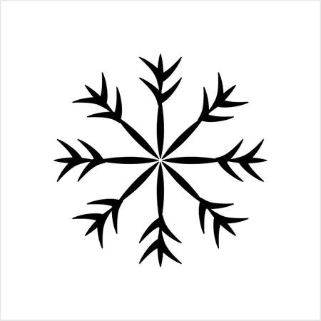 Snowflake Icon, Snow Vector Art Illustration Imagens - 130419618