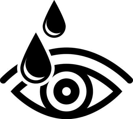 Eye Drop Icon Vector Art Illustration