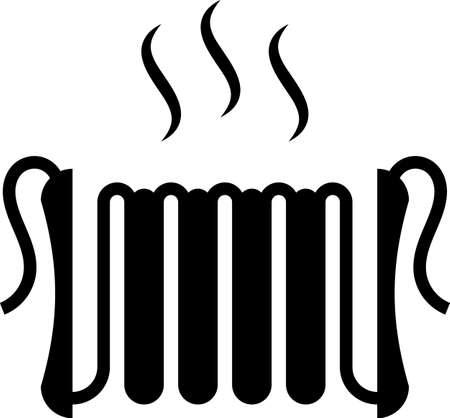 Heater Icon, Heater Vector Art Illustration Vettoriali