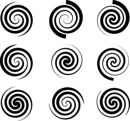 Spiralsammlung, Archimedische, Fermat-Spirale-Vektor-Kunst-Illustration