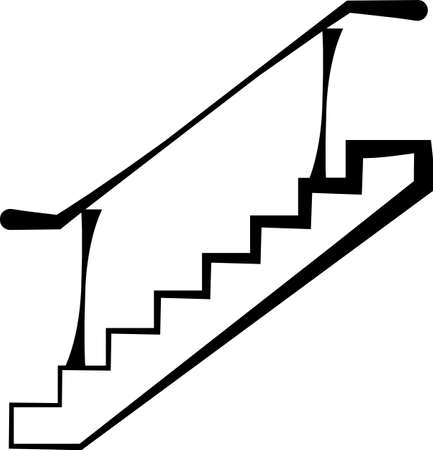 Stairs Icon, Web Design Vector Art Illustration