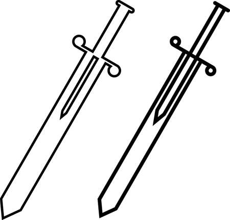Sword Icon, Sword Vector Art Illustration