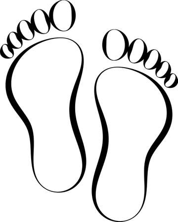 Human Footprint Icon, Foot Imprint Vector Art Illustration