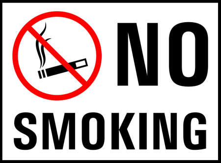 No Smoking Icon, No Smoking Sign Vector Art Illustration