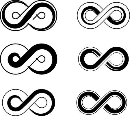 Infinity Sign Design Collection Vector Art Illustration