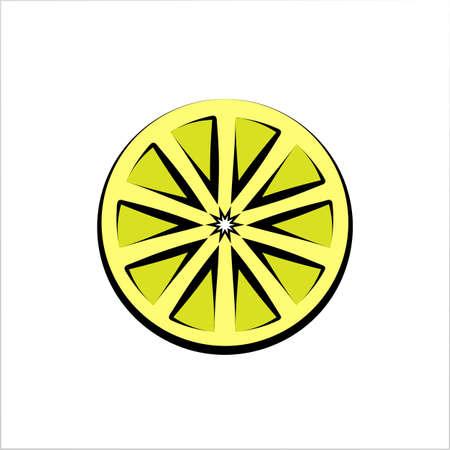 Lemon Icon, Lemon Vector Art Illustration