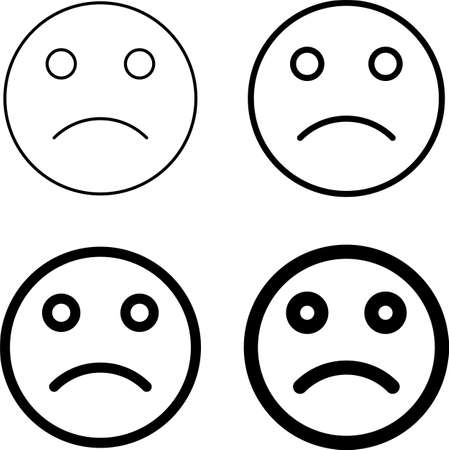 Sad Icon, Sad Face Icon Vector Art Illustration