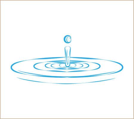 Water Drop Splash And Ripple Vector Art Illustration