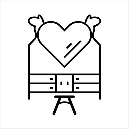 Dressing Table Icon Vector Art Illustration