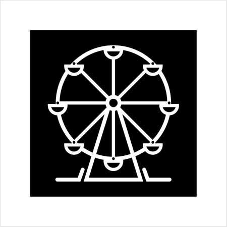 Ferris Wheel Design Icon Vector Art Illustration Illustration
