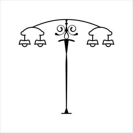 Street Light Icon Vector Art Illustration